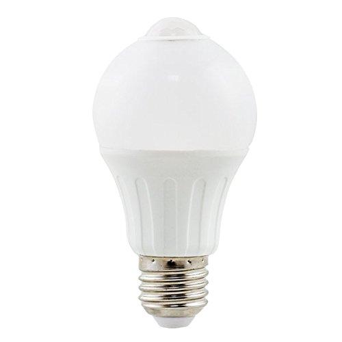 Aigostar BA Sense A5 A60 - Bombilla LED A5 A60 con sensor de movimiento, gran ángulo de iluminación 280º, 6 watios, casquillo grande E27, luz cálida (3000K). Calidad Aigostar.