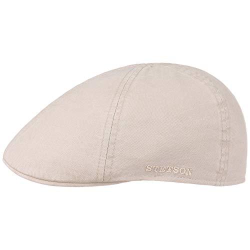Stetson Texas Organic Cotton Flatcap Herren | Nachhaltige Schiebermütze mit Bio-Baumwolle | Flat Cap mit UV-Schutz (40+) | Herrencap Frühjahr/Sommer | Schirmmütze Natur XXL (62-63 cm)
