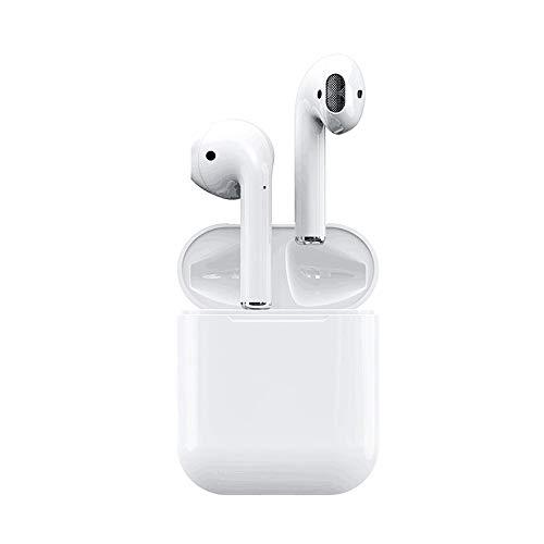 MYGIRLE Drahtloses Bluetooth-Headset Für iPhone Samsung Huawei, 5.0 Tragbare Hd-Stereo-Sport-Outdoor-Wireless-binaural-Headset Mit Ladebox (weiß) Wireless Binaural Headset