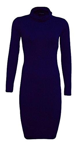 Generic - Robe - Moulante - Manches Longues - Femme Bleu Marine