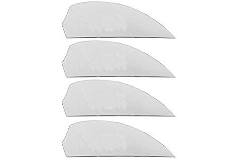 4x G10 fins White, White Kiteboardfinnen, Buldog, wakeboard fins, G10, fin, fins, M6, surfboard fins, Black