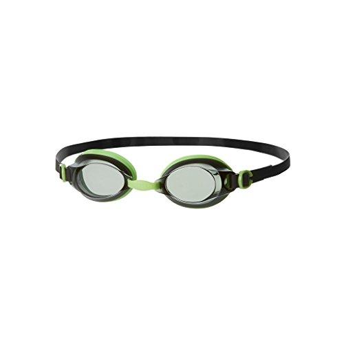 Speedo Jet V2 Au Occhiali Anti-Cloro, Nero/Verde/Trasparente, Taglia Unica