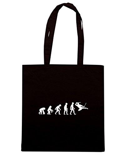 T-Shirtshock - Borsa Shopping TAM0036 evolution of ninja dark tshirt Nero
