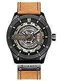 Curren Hombres Quartz-Analog Relojes Militares Deporte Reloj de Pulsera Impermeable Piel Banda Hombres 8301