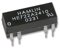 RELAY, REED, DIL, DPST-NO, 24VDC HE722A2410 By HAMLIN Hamlin Electronics