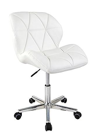 yopih moderne Uranus rembourré pivotant en imitation cuir chaise de bureau bureau d'ordinateur