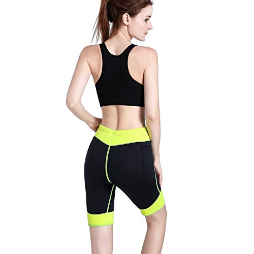 Lovelysunshiny-Pantalone-da-donna-in-neoprene-elasticizzato-con-pantaloncini-corti-che-migliora-il-sudore