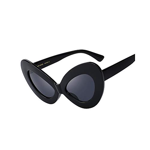 WJMLHLKK Frauen Big Cat Eye Sonnenbrille Red Frame Frauen Markendesigner Damen Sonnenbrille Vintage Eyewear Shades Uv400