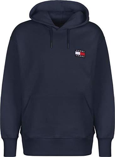 Tommy Jeans Herren Sweatshirt Tommy Badge Hoodie Marine (52) M -