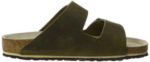 Birkenstock Unisex-Erwachsene Arizona Leder Softfootbed Pantoletten Grün (Artic Old Jade) CsOX71hND