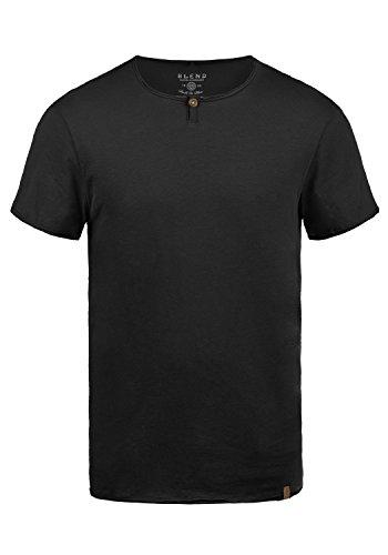 Blend Ireto T-Shirt A Maniche Corte Maglietta da Uomo con Girocollo, Taglia:M, Colore:Black (70155)