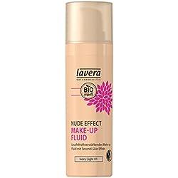 lavera Fluide de maquillage effet nude - Nude Effect Make Up Fluid - Ivory Light 01 - texture ultra-liquide - vegan - Cosmétiques naturels - Ingrédients végétaux bio - 100% Naturel Maquillage (30 ml)