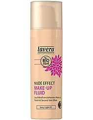 lavera Nude Effect Make Up Fluid ∙ Farbe Ivory Light Hautfarbe ∙ Natural & innovative Make up ∙ vegan ✔ Bio ✔ Naturkosmetik ∙ Teint Kosmetik 1er Pack (1 x 30 ml)