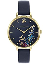 Sara Miller The Wisteria Collection SA2044 - Reloj de Pulsera (Correa de Piel, Chapado