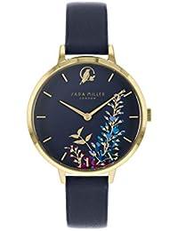 Sara Miller The Wisteria Collection SA2044 - Reloj de Pulsera (Correa de Piel, Chapado