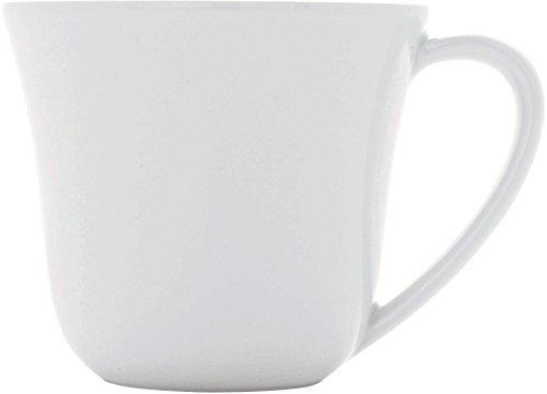 Alessi A di Ku Tasse à Café en Porcelaine - Blanc - Set de 4 Pièces