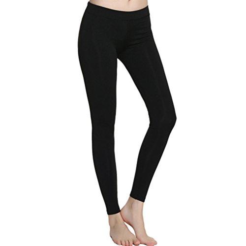 Zhhlinyuan Women's Fashion Des sports Yoga Running Fitness Quick dry Pants LWQ-0191 Black