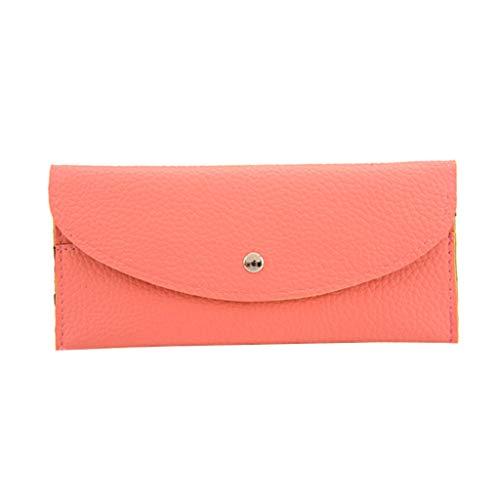 LILIHOT Mode Frauen Handtasche Reine Farbe Leder Kurze Brieftaschen Lässige Einfachheit Geldbörse Karteninhaber Multi Funktionskarte Paket Einfache Und Großzügige Aufbewahrung Der Geldbörse