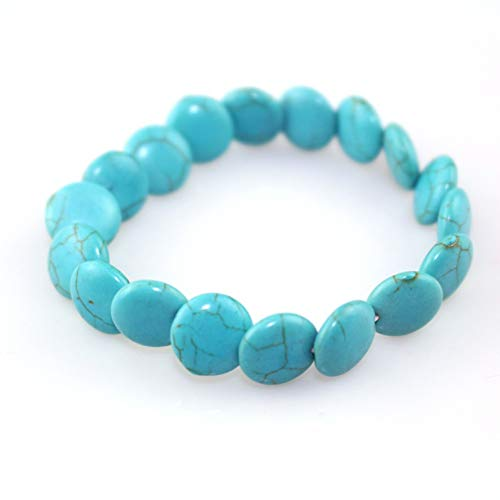 Blau Laminat (TDPYT 2 Stücke/Männer Und Frauen Armband 12 Mm Runde Blaue Kiefer Laminat Armbänder Heißer Weiblichen Armband)