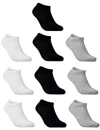 TAIPOVE Lot de 6 ou 10 Paires de Chaussettes Coton de Sport Pour Homme