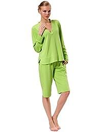 Raikou kurzer Hausanzug / Schlafanzug in grün