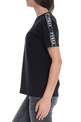 Pyrex t-shirt donna maglia donna in jersey 40064 s nero