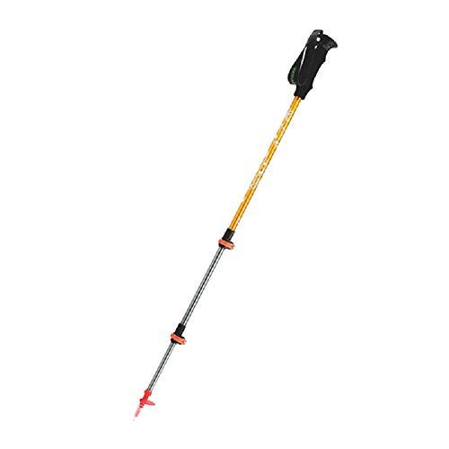 YHDQ Trekkingstöcke mit geradem Schaft, für den Außenbereich, Wandern, Bergsteigen, Aluminiumlegierung, leichtes Teleskopschloss -