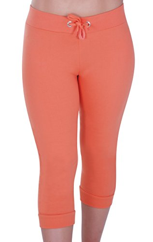 Eyecatch - Nova Dames Joggeur Pantalon Gym Aux Femmes 3/4 Tondu Orange