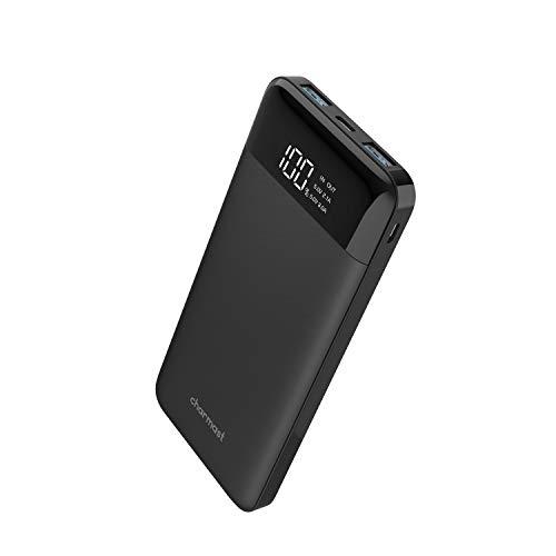 Batterie Externe 10000mAh Ultra Slim, USB C Power Bank avec Ecran LED, Modèle Dernier,Charge Rapide 5V/3A Batterie Portable Mince Compacte Compatible avec iphone 6s/6/7/x Samsung Huawei