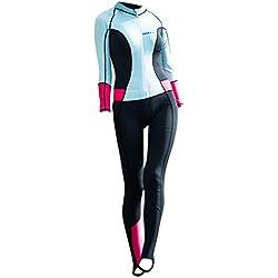 ZEELIY HiSEA Femmes La Mode Combinaison de Plongée❀0.5mm Élastique Chaud Manches Longues Combinaison de plongée à Capuche Anti-UV pour sous-Marine et la Natation Surf XS-XXL
