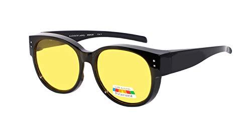 rainbow safety Überbrille Sonnenbrille Herren Damen für Brillenträger Schutzbrille für Sport Radfahren Skifahren Angeln Auto Nachtsichtbrille Polarisierte Gläser RWN30 (Nachtfahrbrille)