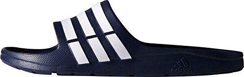 adidas Duramo Slide Unisex-Erwachsene Dusch & Badeschuhe G15892 Dunkelblau - Weiß