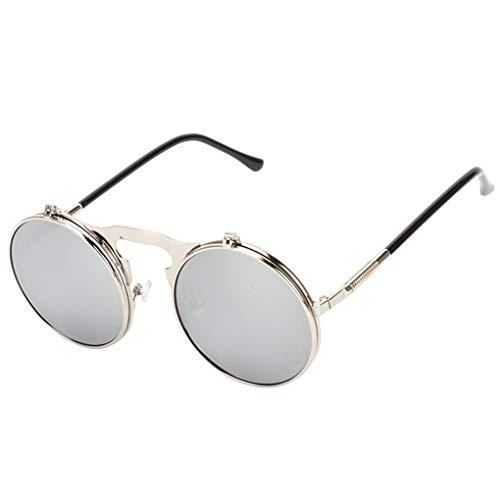 Provide The Best Mode Flip Up Steampunk-Sonnenbrille-Männer runde Weinlese-Männer Sunglass Driving Piloten Brille Sunproof UV400