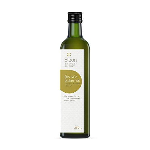 Kürbiskernöl kaltgepresst von ELEON   250ml BIO Kürbiskernöl   Natives Kürbiskern Öl aus Bio Kuerbiskerne   Tolle Kürbiskernöl Kapseln Alternative