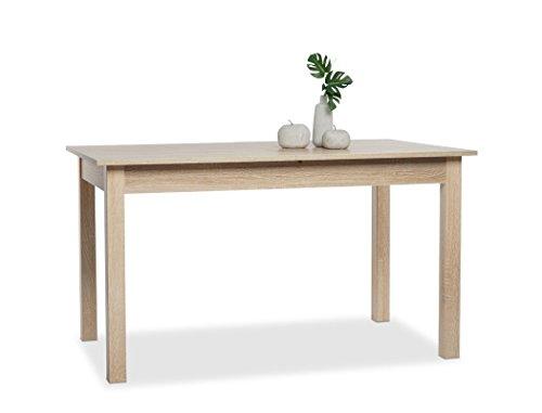 Esstisch Cottbus Eiche Sonoma 140(180)x80 cm Esszimmertisch Speisetisch Auszugstisch Küchentisch Tisch Esszimmer Küche