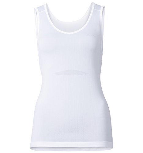 Odlo Damen Unterhemd Singlet V Neck Evolution X-Light, white, L, 182051-10000