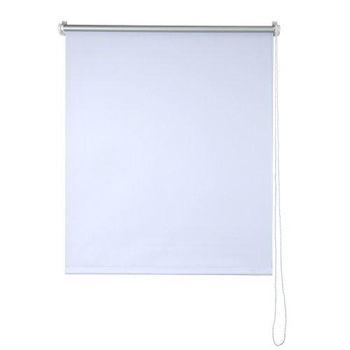 SHINY HOME Stores Enrouleur Isolant Thermique Store Occultant Rideaux pour Fenêtres Montage Simple - (L x H)120 x 230 cm - Blanc