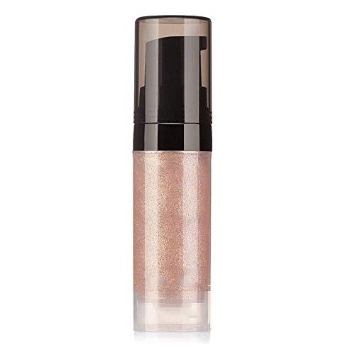 El Kit de lápiz labial brillo de labios líquido impermeable del brillo sostenible desempeña alta encendedor rojo brillo de labios metálico cosmética 1pc-Champagne Peach