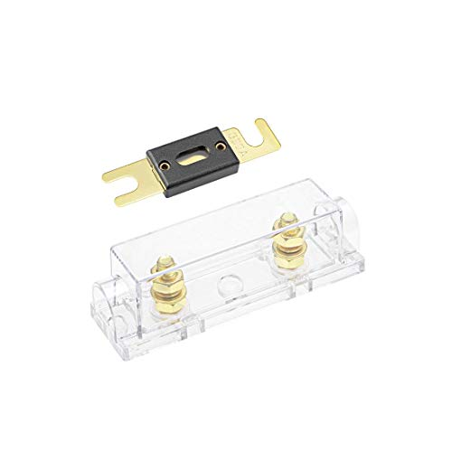 300a Car Audio (ZCHXD ANL Fuse Holder with 300 Amp Fuse DC 32 Volt for Automotive Car Vehicle Audio Amplifier Inverter Replacement with Clear Insulated Cover)