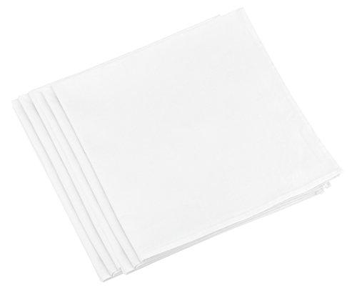 FiveSeasonStuff Serviettes/Serviettes en Coton 100% Coton (20 Pcs/Paquet), pour Hôtel, Restaurant, Maison, Pique-Nique, Fête, Mariage, Événement, Buffet, Vacances (48cm x 48cm/18.9 '' x 18.9 '')