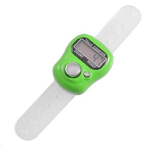 Contatore - TOOGOO(R) La custodia in plastica verde 5 cifre LCD dito elettronico del contatore del riscontro della mano