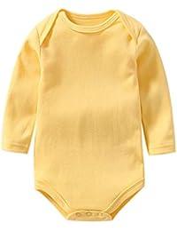 43969b7f6225 Amazon.it  Giallo - Tutine e body   Bambina 0-24  Abbigliamento