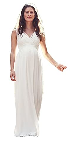 Bellybutton Hochzeitskleid Dilara Damen Umstandsmode Kleid Dress Umstandsbrautkleid 11805 (38, creme ( altweiss))