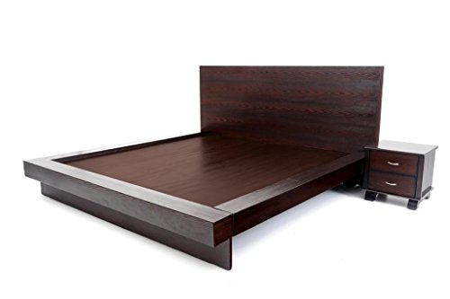 Furnicity LGBQWOS0024 Queen Size Bed (Walnut)