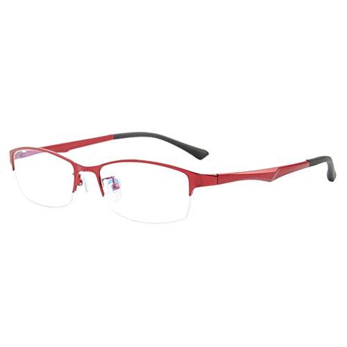 Haodasi Metall Hälfte Rahmen TR90 Geschäft Kurzsicht Entfernung Brille Kurzsichtigkeit Myopia Kurzsichtig Brille -1.00~-6.00 mit Brille Box (Diese sind nicht Lesen Brille)