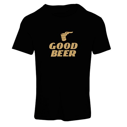 lepni.me Frauen T-Shirt Ich Brauche EIN gutes Bier, Geschenk für Bierliebhaber Partykleidung (Medium Schwarz Gold)