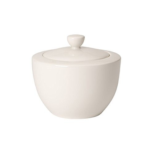 Villeroy & Boch 10-4153-0960 Sucrier/Boîte à Marmelade 0,3 L Porcelaine Blanc 12 x 11 x 9 cm 1 sucrier/boîte