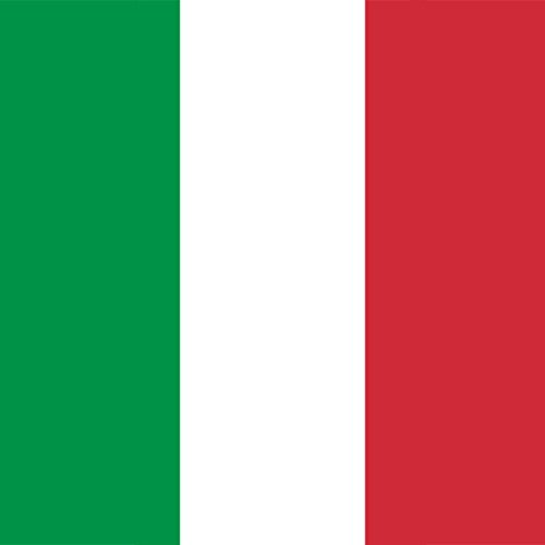 Magnet Frigo avec drapeau national italien - 5 x 5 cm - Aimant pour les amis d'Italie