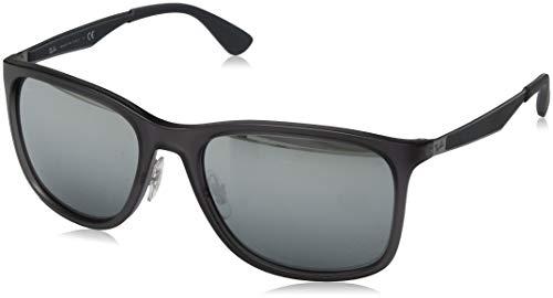 Ray-Ban Herren 0RB4313 Sonnenbrille, Grau (Matte Transparente Grey), 57