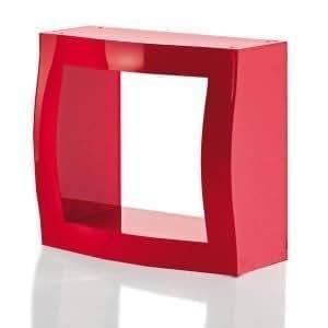 Magis Boogie Woogie-Peluche Cube de rangement sans Panneau arrière rouge Designer: Stefano Giovannoni